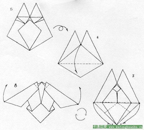 手工折纸教程之蝴蝶2